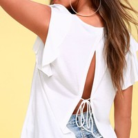 Basically the Best White Tie-Back Top