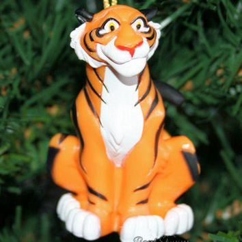 Licensed cool 2014 Disney Aladdin Movie RAJAH RAJA TIGER JASMINE FRIEND Christmas Ornament PVC