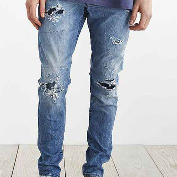 Neuw Ray Tapered Beat Up Blue Jean- Vintage Denim Medium