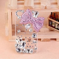 iphone 5 case   bow case Pearl Butterfly case  Fashion pearl iphone 5 cases iphone 4 case