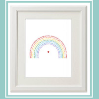 Somewhere Over the Rainbow What a Wonderful World 8x10 Instant Download