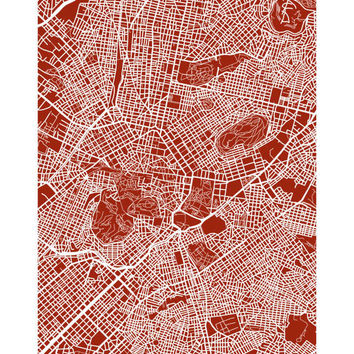 Athens Map Print - Greece Poster