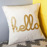 Dorm Decor Hello, Is it Gleam You're Looking For? Pillow by ModCloth