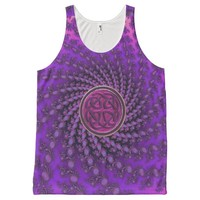 Purple Celtic Knot Spiral Fractal Mandala Tank Top
