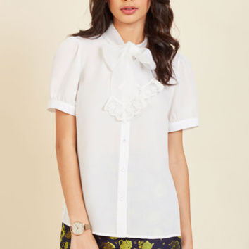 Profesh Intention Button-Up Top | Mod Retro Vintage Short Sleeve Shirts | ModCloth.com