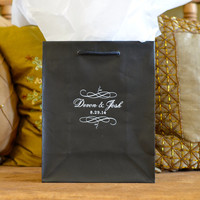 Personalized Wedding Welcome Bags with Names and Border - Set of 35