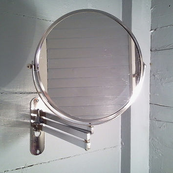 SALE, Vintage, Hanging, Fold Out Mirror, Magnified, Vanity Mirror, Shaving, Make up Mirror