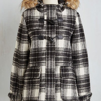 Rustic Long Toasty in Transit Coat in Plaid