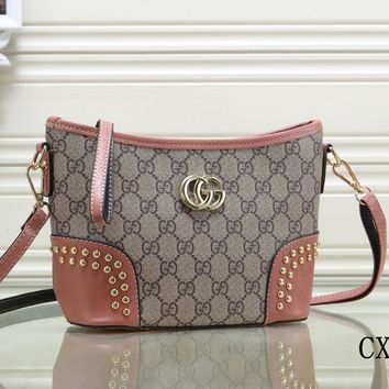 Gucci Women Fashion Leather Satchel Bag Shoulder Bag Handbag Crossbody-22