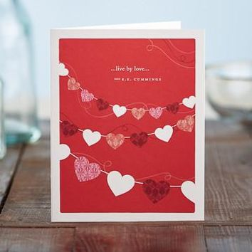 Live By Love, A Positively Green Love and Valentine's Day Card