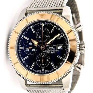 NEW Breitling Superocean Heritage Chrono Steel 18k Rose Gold Watch U1332012/B908