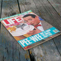 Vintage Life Magazine August 1988 Pee Wee How To Throw the Coolest Party Ever