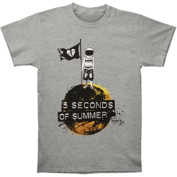 5 Seconds Of Summer Men's  Astronaut T-shirt Ash Rockabilia