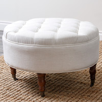 Clendon Tufted Round Ottoman