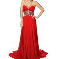 Pre-Order Dahlia- Red Long Prom Dress