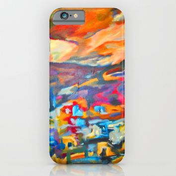 My Village | Colorful Small Mountainy Village iPhone & iPod Case by Azima