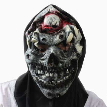 Scary Party Mask Latex  Adult Cosplay Costume Skull