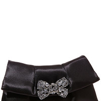 BETSEYS PERFECT CRYSTAL BOW CLUTCH