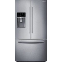 Samsung 28.07 cu. ft. French Door Refrigerator in Stainless Steel RF28HFEDBSR at The Home Depot - Mobile