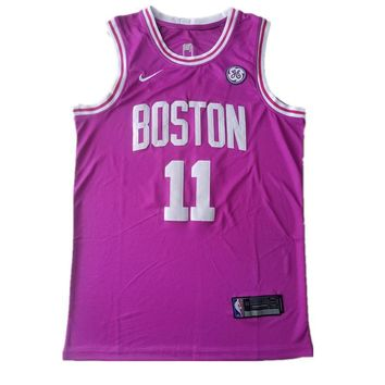 Men's Boston Celtics Kyrie Irving Pink Nike Sunset Vice Swingman Jerseys