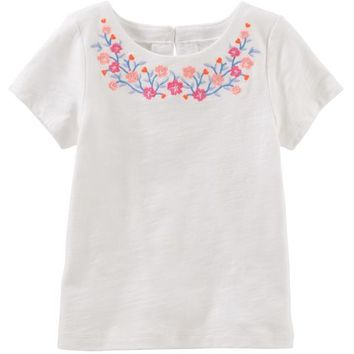 Embroidered Floral Tee