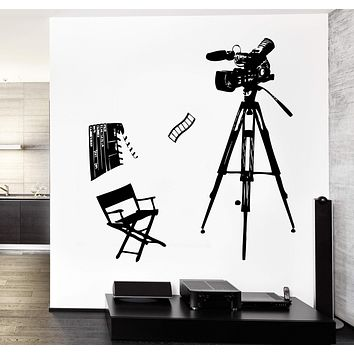 Wall Stickers Vinyl Decal Hollywood Stars Movie Cinema Camera Decor Unique Gift z3763