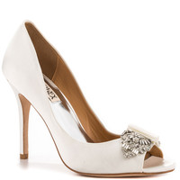 Badgley Mischka - Davida - White Satin