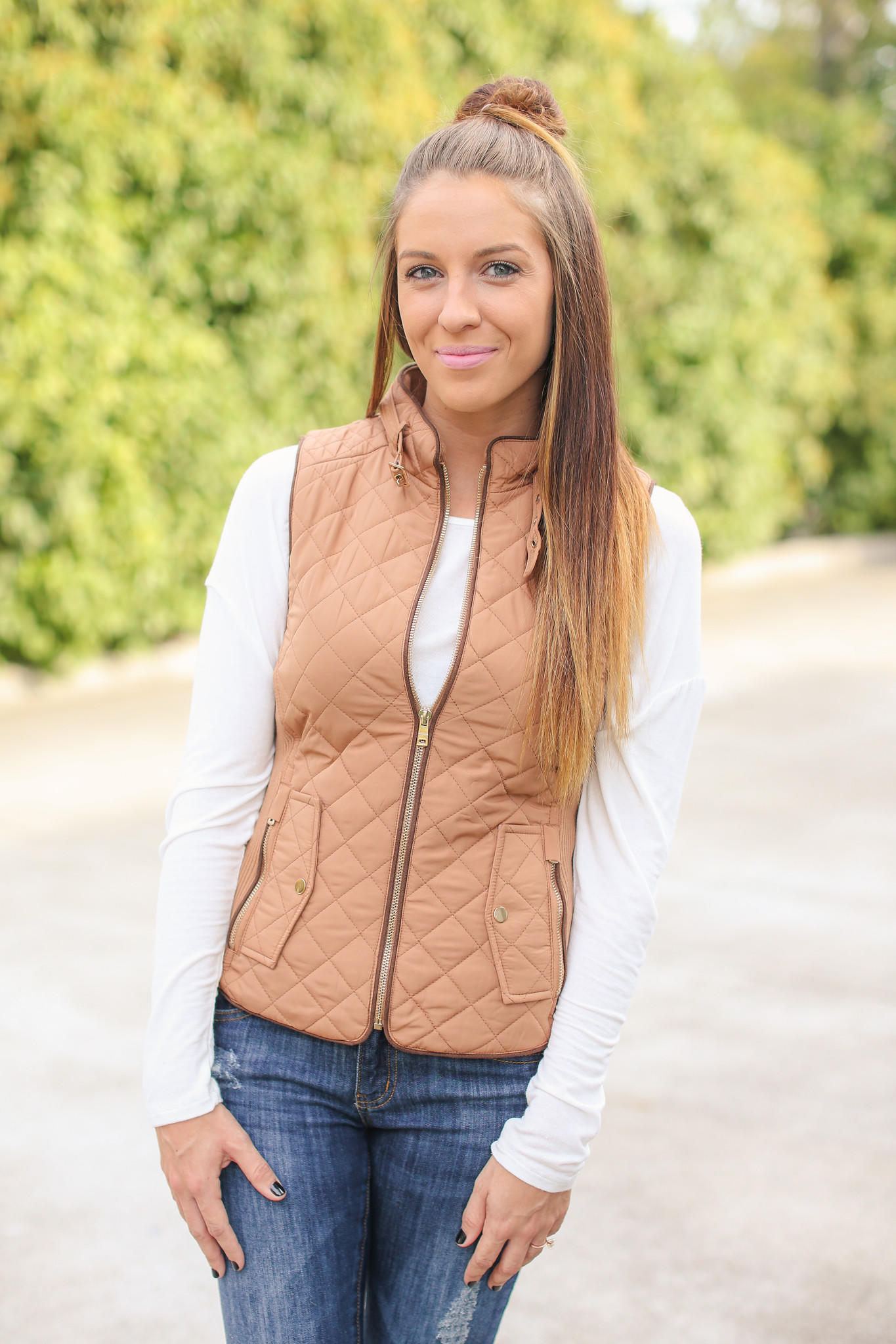 Quilted Riding Vest - Camel from Hazel and Olive | Epic Wishlist : quilted riding vest - Adamdwight.com