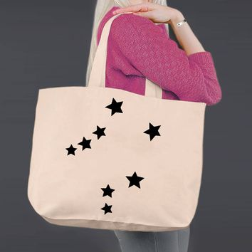 Libra | Personalized Canvas Tote Bag