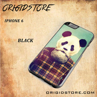 Hipster Panda For Iphone 6 Case Gift Present - Multiple Choice Material