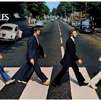 Beatles Abbey Road Album Cover Poster 11x17