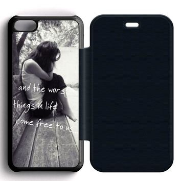 Ed Sheeran The A Team Leather Wallet Flip Case iPhone 5C