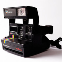 POLAROID Supercolor 635 CL Black Instant Camera Vintage 80s Retro Rainbow Spirit 600 Type Super Color Strap Tested and Working