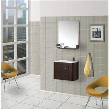 Contemporary Wall-Mounted Bathroom Vanity with Sink and Mirror