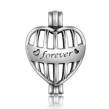 925 Sterling Silver Tree of Life Anchor Heart Cage Pendant Fit Chain Necklaces for Women Authentic Silver Jewelry SCP005