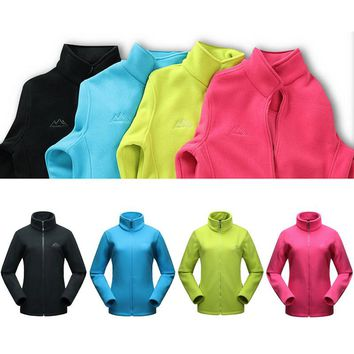 Winter Warm Tech Fleece Jacket Women Breathable Camping Softshell Jackets Outdoor Travel Trekking Hiking Coat Ski Clothing UB231