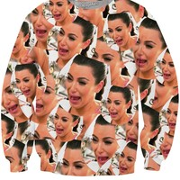 Crying Kim Crewneck Sweatshirt