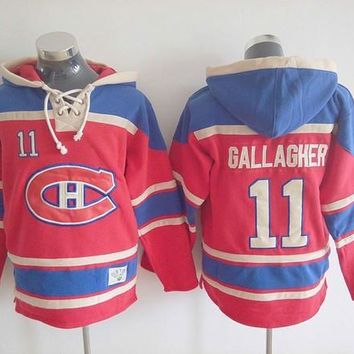 NHL #11 Brendan Gallagher Canadiens hoodie Montreal 2016 Old Time Mens Ice Hockey hood