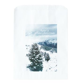 Have a White Christmas Favor Bags