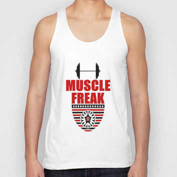 MUSCLE FREAK II Unisex Tank Top by Robleedesigns