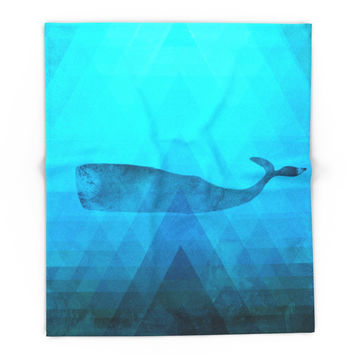Society6 Whale Blanket