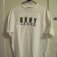 #vintage #1990s #DKNY Jeans tshirt! some yellowing on neck and ...