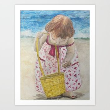 Beach treasures Art Print by DJ Beaulieu