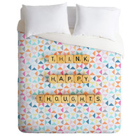 Happee Monkee Think Happy Thoughts Duvet Cover