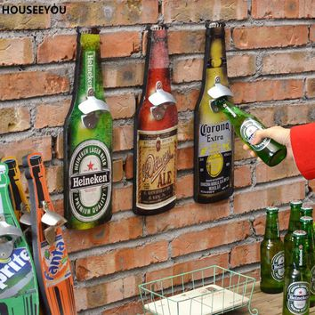 American Retro Beer Bottle Opener Barware Tools Creative Bar Restaurant Wall Hangings Crafts Bar Tool Accessories Supplies
