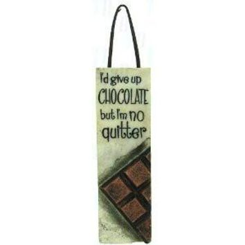 Slim Plaques with Leather Hanger- Chocolate