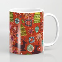 joyous jumble rust Mug by Sharon Turner