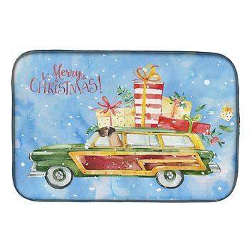 Merry Christmas Great Dane Dish Drying Mat CK2456DDM