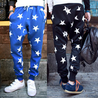 Stars Design Men's Street Style Fashion Joggers