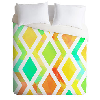 Rebecca Allen Delighted Duvet Cover